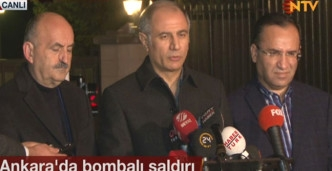 Bakan Efkan Ala Açıkladı! Ankara Saldırısı Bomba Yüklü Araçla Yapıldı
